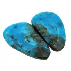 Freeform 24x15mm Arizona Turquoise Cabochon Pair 05