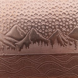 0.55 Thick 60x60mm Bare Copper Plate Mountain Landscape Design 13