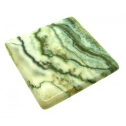 Rectangle 33x32mm Green Lace Jasper Cabochon 06