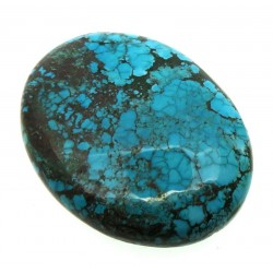 Oval 38x29mm Hubei Turquoise Cabochon 16