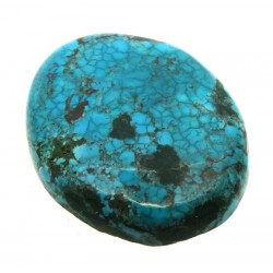 Oval 34x27mm Hubei Turquoise Cabochon 23