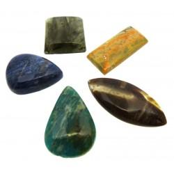 Five Assorted Mini Gemstone Cabochon Pack 24
