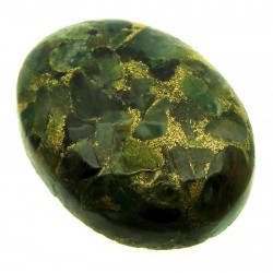 Oval 29x22mm Mohave Emerald Cabochon 02