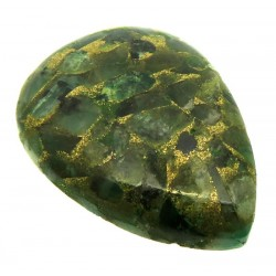Teardrop 33x24mm Mohave Emerald Cabochon 10