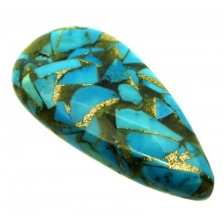 Teardrop 40x20mm Mohave Turquoise Cabochon 16