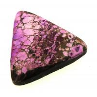 Triangle 26x25mm Purple Coloured Magnesite Cabochon 20
