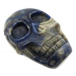 Skull 48x33mm Lapis Lazuli Cabochon 07